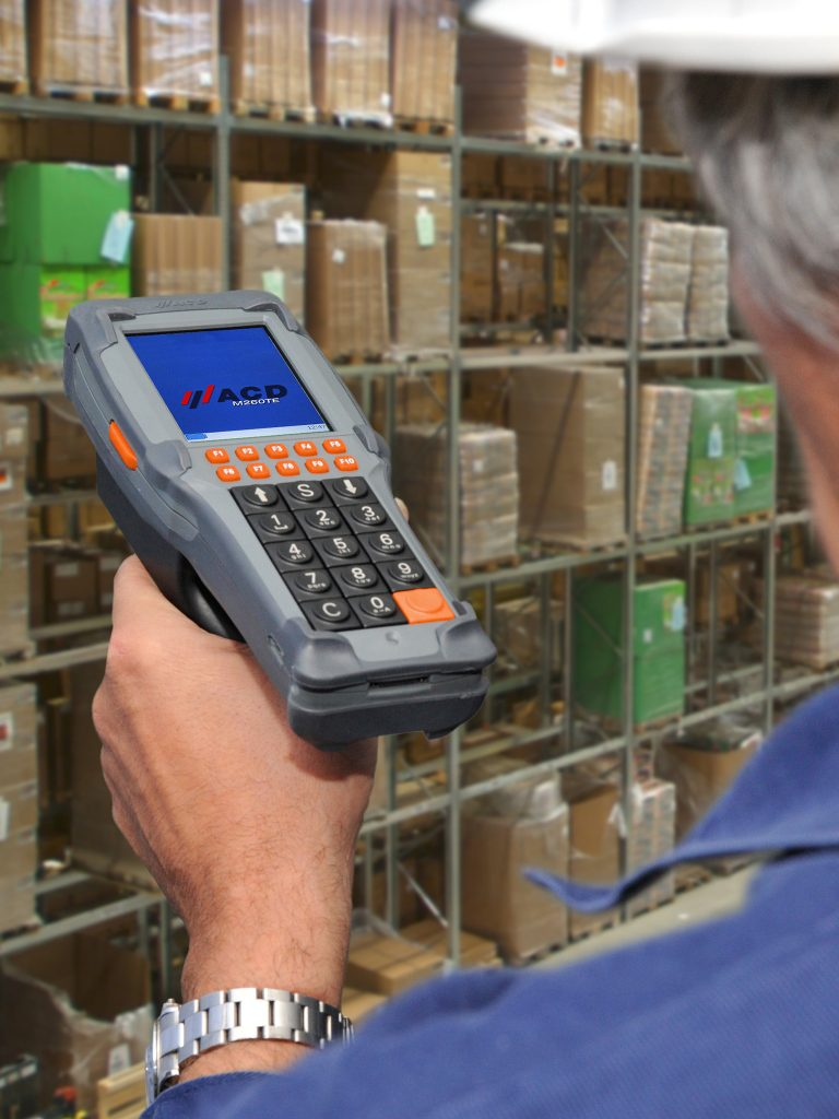 Handheld device used in warehouse